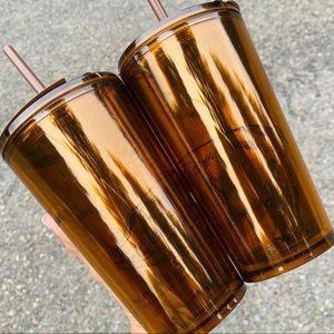 ✨🆕✨ 2x Starbucks Pike Place Piggy Bank Amber Cups